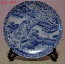 陶瓷盘摆件定做 青花瓷盘 外事礼品摆盘