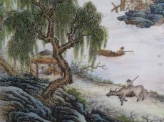 山水瓷板畫哪里可以鑒定真假
