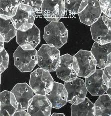 亞克力透明幾何形水晶18mm八角珠燈飾掛件定制