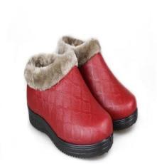冬季新款 厂家批发地短靴老北京女棉布鞋舒适加绒保暖防水防滑