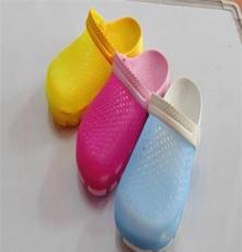 厂家直销凉鞋 2013新款 沙滩鞋 洞洞鞋多色变色鞋子