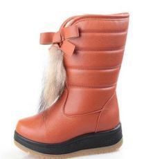 冬季新款雪地靴真毛女棉鞋牛筋底防滑棉靴子保暖鞋厂家批发
