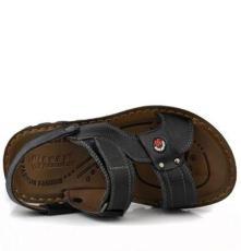 2014夏季新款 真皮沙滩凉鞋男凉鞋牛皮透气沙滩鞋305男士凉鞋真皮