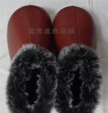 海宁冬季家优质居家鞋皮拖鞋保暖棉鞋男女老人包跟防滑暖鞋浅棕色