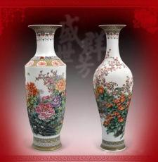 张松茂盛世群芳粉彩对瓶珍藏瓷