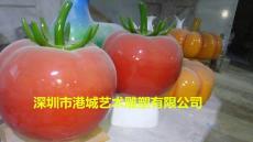 湖南仿真蔬菜番茄玻璃鋼西紅柿圣女果雕塑