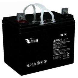 VISION铅酸蓄电池6FM24阀控式12V24AH保修