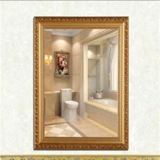 耐擦洗納米防霧浴室鏡壁掛鏡衛浴鏡帶框鏡化妝鏡洗手間鏡貼墻自粘