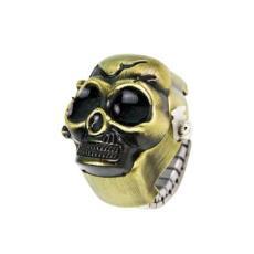 時霸手表工廠供應時尚新品促銷禮品骷髏頭翻蓋戒指表