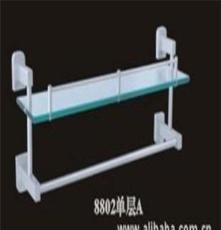 浙江生产批发 单层带杆太空铝置物架