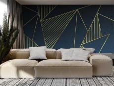 JCC天洋壁画即贴既住 黑镜 现代轻奢背景墙