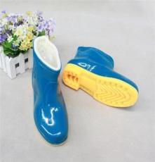 厂家直销 加棉保暖雨鞋中筒 双回加棉女雨靴