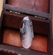 批發天然水晶 天然巴西白水晶雕刻件 極品吊墜 封侯拜相 精雕細琢