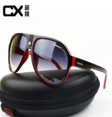 高品质卡雷拉时尚大框皮扣太阳镜现货批发男女同款8V691处理