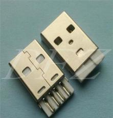 USB2.0 A公短體焊線一體式白膠