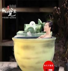 日本极乐汤陶瓷浴缸