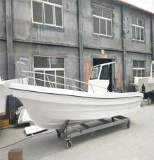 漁尚游艇玻璃鋼FFB680L半蓬釣魚艇海釣船
