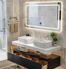 智能防雾镜子 免打孔卫生间浴室梳妆台 发光化妆椭圆镜子