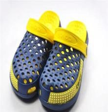 2013夏新款花園鞋洞洞鞋 透氣厚底松糕沙灘鞋 情侶居家涼拖鞋男