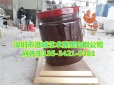 孟州玻璃钢辣椒酱瓶雕塑批发价格定制报价厂