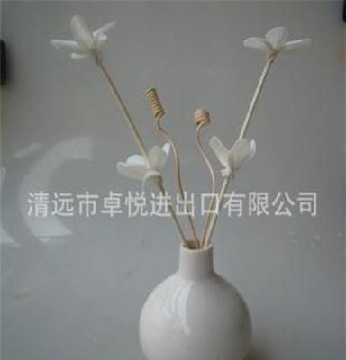 工艺品原色香薰藤条,通草花、无火香薰配件、仿真花、吸油花