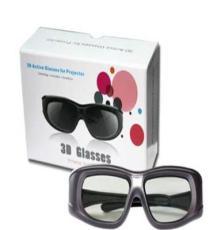 DLP影院3D電影眼鏡 DLP投影儀專用眼鏡 主動式快門高清3D眼鏡