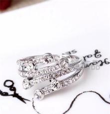 三色可选饰品 水晶钻戒 外贸欧美戒指批发 潮流时尚JZ1324