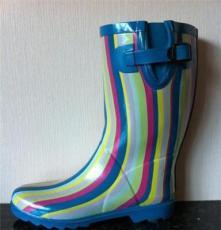 個性條紋時尚女士雨鞋雨靴 gyoyo雨鞋 女鞋杭州經銷批發