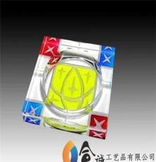供應水晶煙灰缸水晶工藝品內雕煙缸彩印煙缸