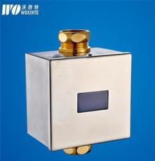 感應大便器 全銅全自動感應大便沖水器明裝感應大便沖水閥蹲便器