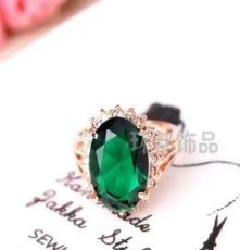 厂家批发三色可选饰品 水晶钻戒 外贸欧美戒指 潮流时尚