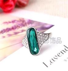 三色可选饰品 水晶钻戒 外贸欧美戒指批发 潮流时尚JZ1657