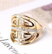 三色可选饰品 水晶钻戒 外贸欧美戒指批发 潮流时尚JZ1874