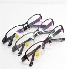 尼康9518半框纯钛眼镜架 男女光学眼镜框架 品牌钛架眼镜天津批发价格