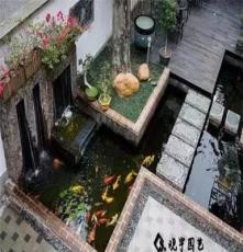 假山锦鲤鱼池设计水处理循环过滤系统制作