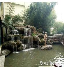 长沙别墅庭院鱼池设计制作