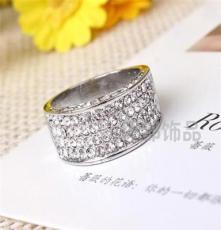 三色可选饰品 水晶钻戒 外贸欧美戒指批发 潮流时尚JZ1879