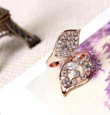 水晶钻戒 三色饰品 外贸欧美戒指 潮流时尚