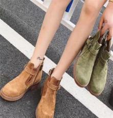 馬丁靴女英倫風加絨學生短靴中高幫