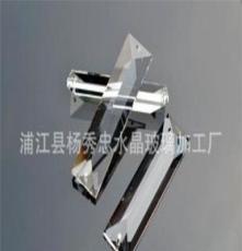 廠家直銷 機磨水晶三角長條 大量批發今日特價