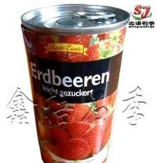 现货供应零食休闲食品 出口标准易拉罐草莓罐头!
