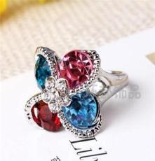 三色可选饰品 水晶钻戒 外贸欧美戒指批发 潮流时尚JZ1300