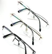 捷豹36012男款钛架眼镜架 天津纯钛光学眼镜架批发