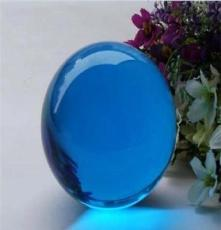 魔術水晶球擺件 合成白水晶球擺件 完美透明玻璃球辦公室擺件