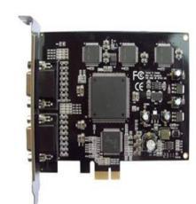 16路音视频采集卡 PCI-E接口 10bit 码流 全D1录像 H.264压缩