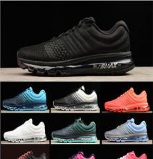 厂家直销春夏季跑步鞋耐克AIR MAX飞线气垫男女子情侣运动鞋