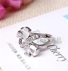 批发水晶钻戒 三色饰品 外贸欧美戒指 潮流时尚