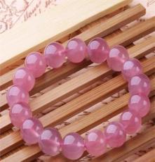 水晶手鏈 招桃花旺姻緣粉晶水晶手鏈