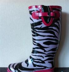 小額批發外貿出口條紋雨鞋 時尚雨鞋 雨鞋批發 pvc雨鞋