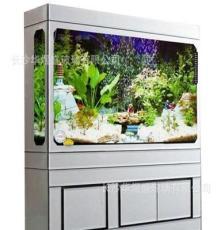 来图加工 玻璃鱼缸水族器材 银聚晶柜式鱼缸 玻璃水族箱定制